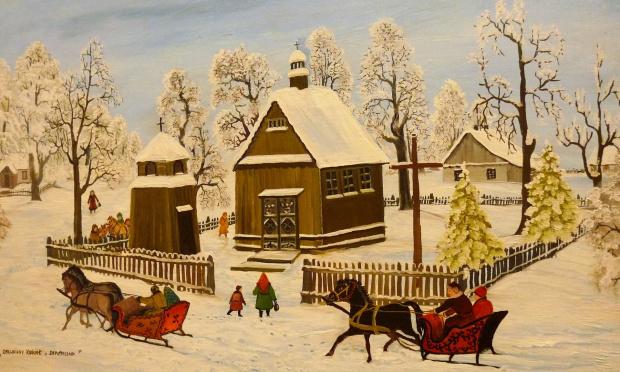 zima z obrazka (obraz z Muzeum na Zamku w Lublinie)