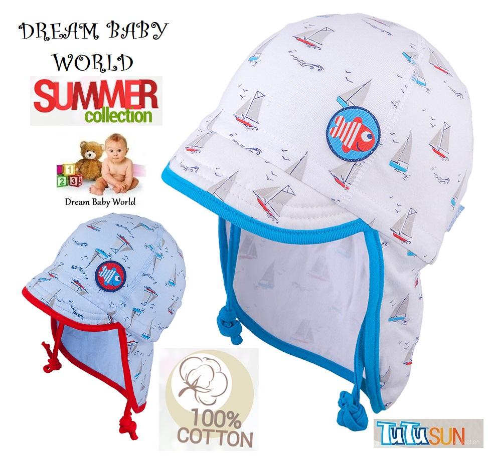 100/% De Bambú verano Bebé Niños Sol Sombrero 0-18 meses tie up Cap Boy