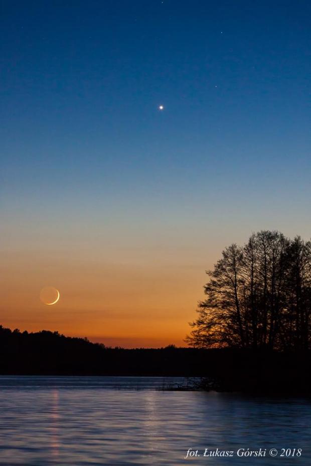 #Księżyc #Wenus #astro #Chojnice