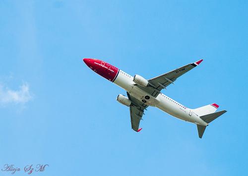 Samolot Norweskich Linii Lotniczych