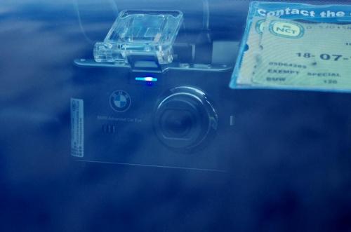 Bmw Adv. car eye. Święcąca dioda świadczy o pracy urządzenia.