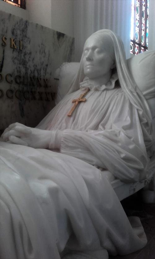Zofia z Czartoryskich Zamoyska-kopia jej nagrobka