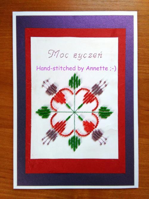 Haft matematyczny na podstawie wzoru ze stitchingcards.com