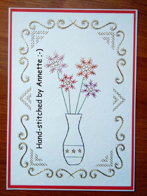 Na podstawie wzoru ze stitchingcards.com, ramka hobbyjournaal.nl