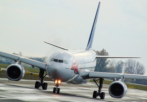 Airbus A330 Travel Service zmierza na swój próbny lot przed zagranicznymi czarterami do ciepłych krajów.