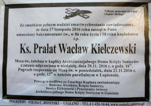 Klepsydra Ks.Prałat Wacław Kiełczewski #księża
