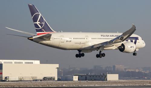 Lądujący Dreamliner w pełnej okazałości :)