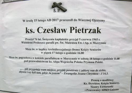 Klepsydry zgonyu ks. Czesław Pietrzak i ks. Henryk Badura