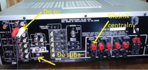 JVC RX-7012RLS + sub aktywny - jak podłączyć pod PC