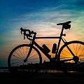 #szosa #rower #cycling #bike #słońce #slonce #zachód #zachódsłońca #pole #lato #wiosna #niebo #chmury #kolarz #kolarstwo #natura