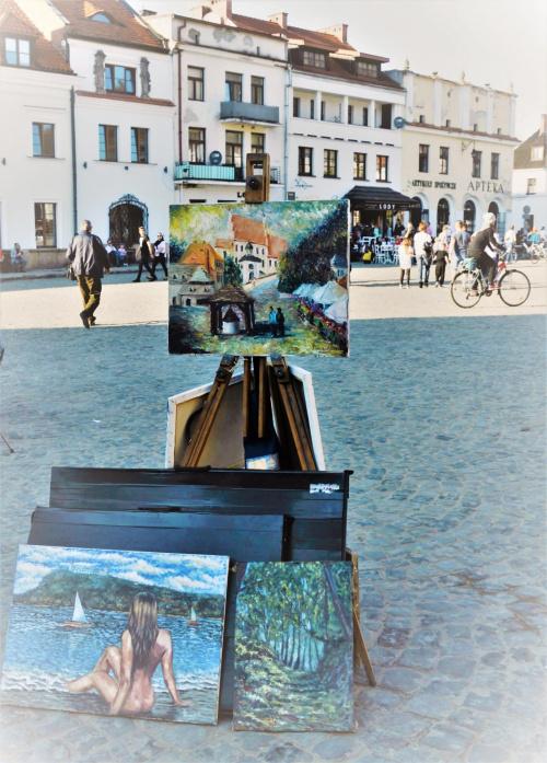na Rynku w Kazimierzu