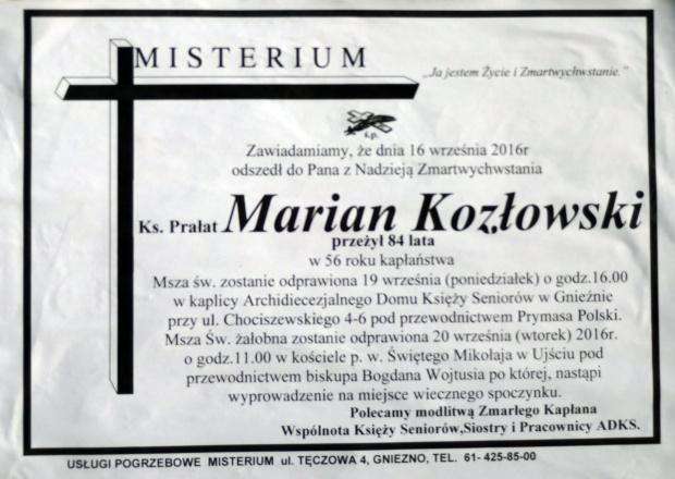 Ks. Marian Kozlowski 1932-2016 #ksiądz