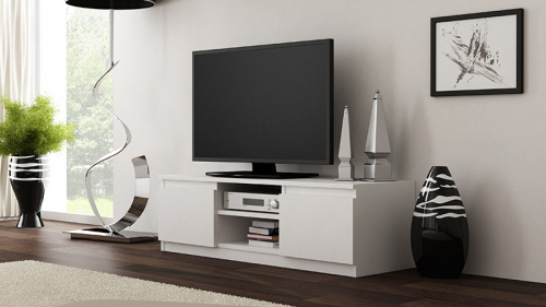 tv schrank lowboard tv m bel fernseher schrank fernsehtisch wei 120cm ebay. Black Bedroom Furniture Sets. Home Design Ideas