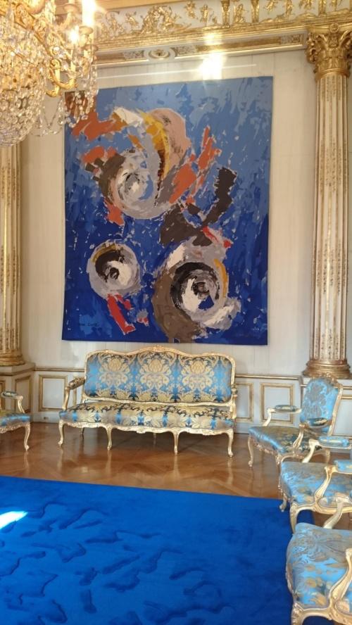Niebieski salonik
