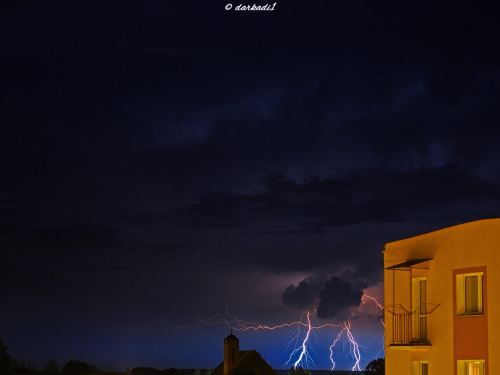 Nocna burza w Dęblinie