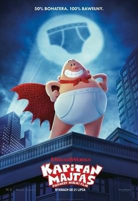 Kapitan Majtas: Pierwszy Wielki Film / Captain Underpants: The First Epic Movie (2017) PLDUB.480p.BDRip.XviD-LPT / Dubbing PL