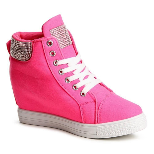 sneakers wedge high top sneakers trainers black white pink