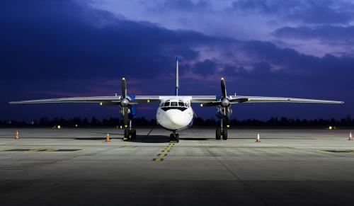 Antonov należący do towarowej linii cargo Genex