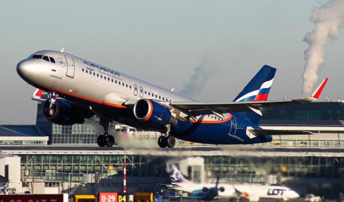 Aeroflot do Moskwy, z dymkiem :)