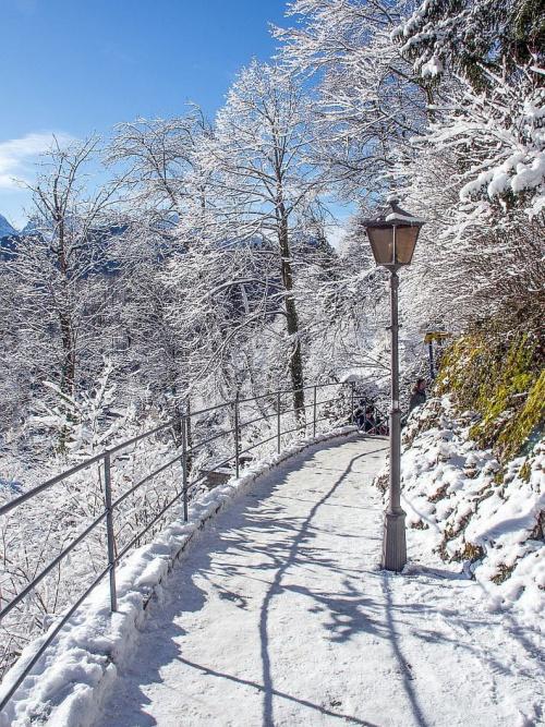 Schwangau, droga do zamku Hohenschwangau