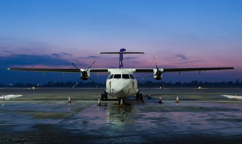 ATR cargo - w mroźnej, zimowej scenerii